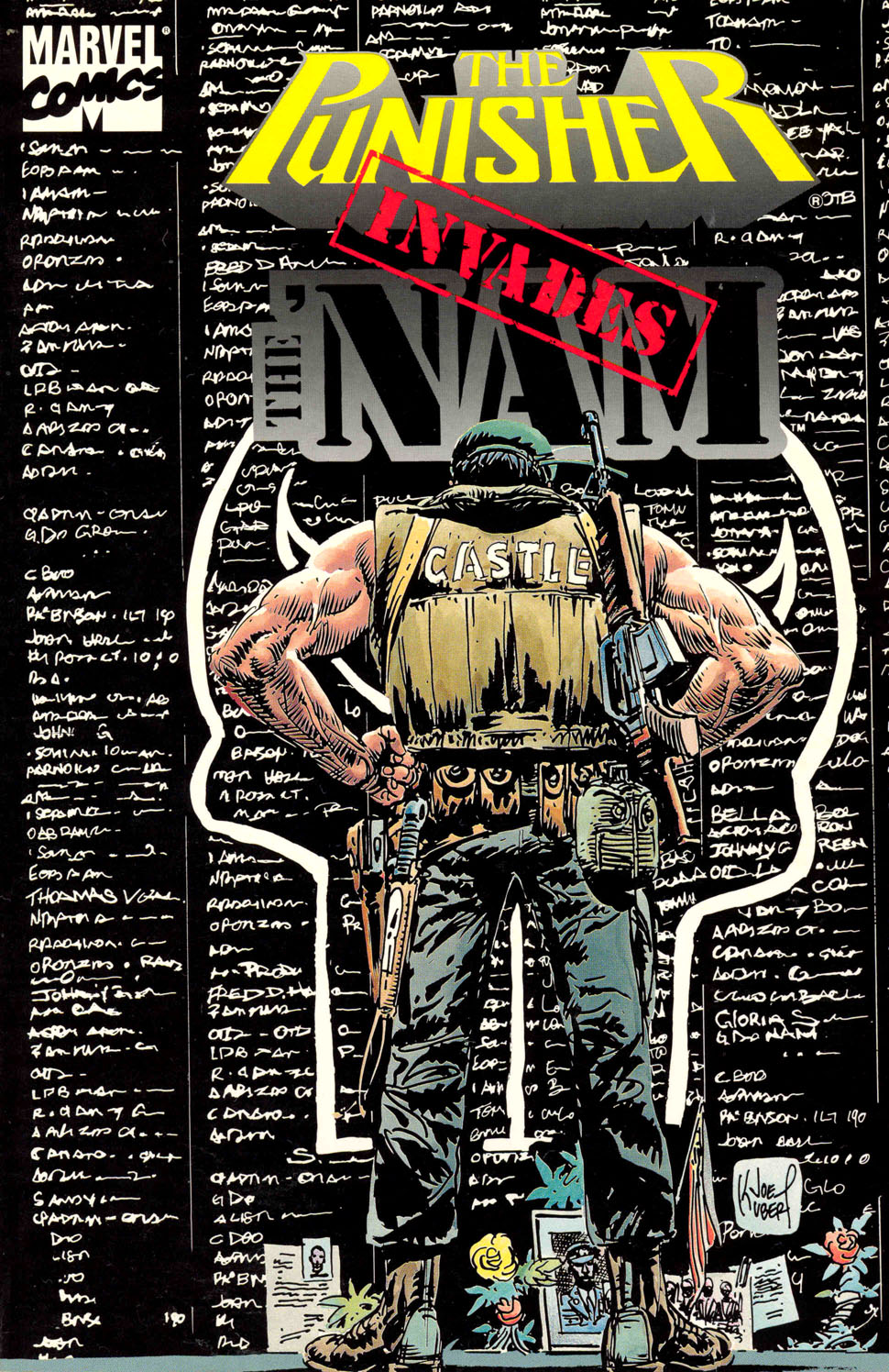 Punisher Invades 'Nam Cover by Joe Kubert