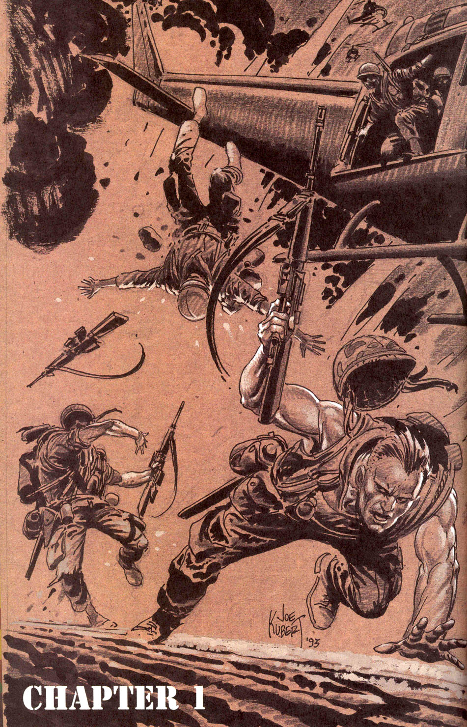 "Joe Kubert's Chapter 1 Title Page from ""Punisher Invades the 'Nam""."