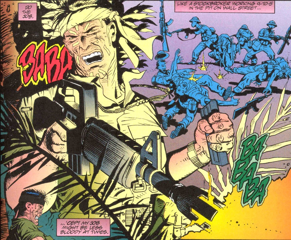 "From ""Punisher Invades The 'Nam"" with Don Lomax (W), Alberto Saichann (A), Steve Dutro (L), and John Kalisz (C)"